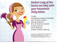 Perfect Lady of the house can help with your household daily duties