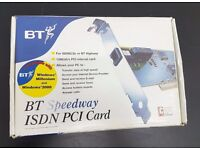 New Boxed BT Speedway ISDN PCI Card
