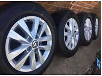 "New 16"" Genuine 2018 VW Transporter T6 T5 Highline alloy wheels +NEW tyres RRP£1400 CAN POST"