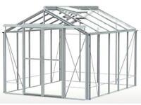 Robinson 8x10 aluminium frame greenhouse