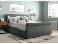 King size storage bed and Eve Sleep mattress