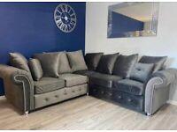 Rio Plush 2 Corner 2 sofa in Grey