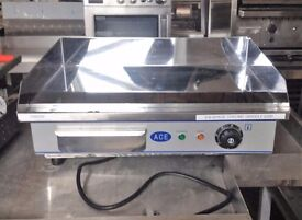 Electric Griddle Hotplate Chrome Wide Stainless Steel