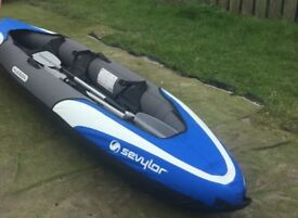 Sevylor Hudson Inflatable Kayak & Sevylor 12v Compressor Pump etc