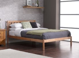 Sandhurst Pine Wooden Bed Frame with Mattress (Single)