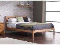 Sandhurst Pine Wooden Bed Frame with Mattress (Single)