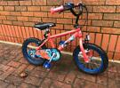 """Marvel Spider-Man 14"""" boys bike cycle bicycle , just serviced and ready to go"""