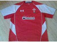 Wales Underarmour Admiral XL rugby shirt in excellent condition.
