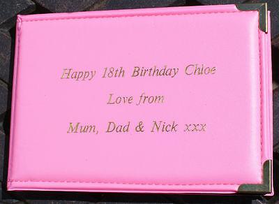 "Personalised Pink Birthday Pocket Photo Album 6""x4"""