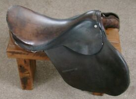 leather saddle for sale made in london comes with free horse see pics