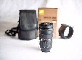Nikon Nikkor 24 70 f/2.8G lens 3 year warranty