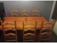 Large Kitchen Table and 6 Chairs
