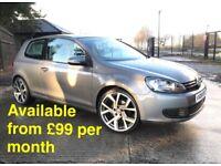 Volkswagen Golf (Jetta A3 A4 320d Leon Passat) £99 per month