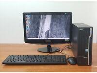 Acer PC Computer Windows 10, Intel i3-7100 8GB RAM & 1TB HDD