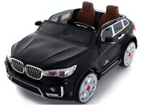 Kids Electric 2 Seater 24v Ride on BMW style Car - Black - RIDE03