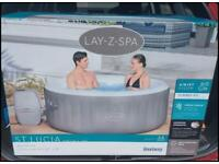 Lay-Z-Spa St Lucia 3 Adults sized Hottub brand new