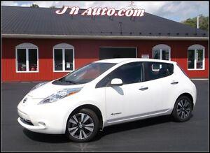 2014 Nissan Leaf SL 6.6 kw, GPS + Cuir  Recharge 110v,220v et  4