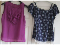 Ladies Tops, sizes 8 and 10, £1 - £3 each, some NEW