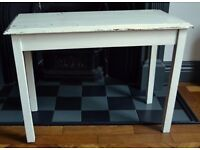 SHABBY CHIC WHITE PAINTED COFFEE SIDE TABLE
