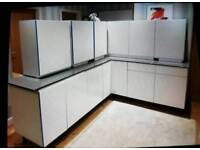 9 gloss white kitchen units of your choice base and wall units