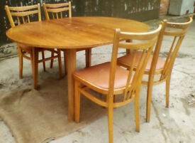 Pine Dining Table & Four Chairs - *Free Local Delivery