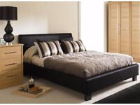 **BRAND NEW DOUBLE KINGSIZE LEATHER DIVAN BED**