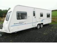 2010 Bailey Ranger GT60 6 berth fixed bed, mover and new awning, twin axle