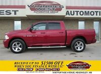 2012 Dodge Ram 1500 Red Crew Sport 4x4, 1 Owner, Hemi V8, Leathe