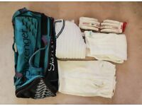 Cricket kit bag and clothes