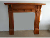 FIREPLACE WOODEN SURROUND £15