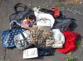 Job lot Bundle Hand bags Large Medium Boho Cream Black Red Fringed tassle Hippy festival chic