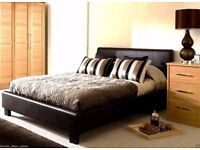 BRAND NEW **** LEATHER BED FRAME ONLY -DOUBLE,KING,SINGLE -BLACK-BROWN- GOOD DEAL WITH MATTRESS