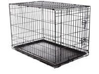 Single door metal dog crate - small
