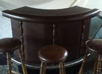 Bar with leather padding