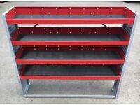 Van Racking / Shelving - BOTT - 4 Shelves - Good Condition - Heavy Duty - Includes Original Brackets