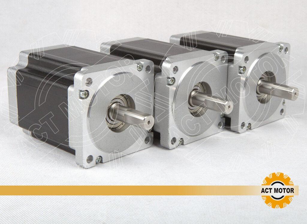 DE//US free!3PCS Nema34 Stepper Motor,34HS1456 ,115mm,8.4NM,5.6ACNC machine B