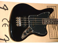 Fender Squier Jaguar Bass Guitar Short Scale. Vintage Modified Series. Black. New in Box.