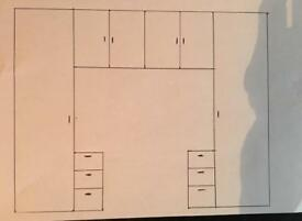 Wall of Bedroom Cabinets