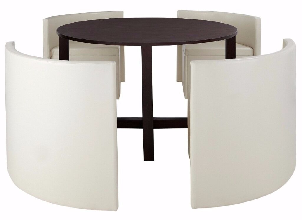 Luxury Hideaway Dining Table And 4 Chairs Set In Salford