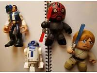 Star wars figures hansolo r2d2 others