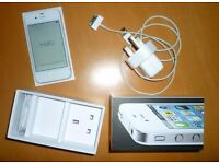 IPHONE 4 - white 8gb excellent condition with box, charger & headphones - locked 02 - kids 1st phone