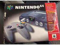 Nintendo 64 - with box and games
