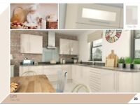 Stylish Modern Cream Gloss Kitchen For Sale