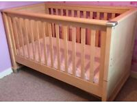 Mamas & Papas Modensa matching cot / cotbed, toy box, bookcase, wardrobe - drawer set