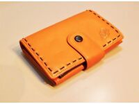 Leather Purse Linea in Tan/Caramel Colour Genuine Natural Soft Leather New Unused Perfect Condition