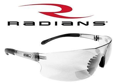 Rad Sequel Bifocal Reader Safety Glasses Sun Reading Magnifier Clear Brown Z87