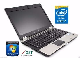 HP Elitebook 2540p Core i7 , 2.13GHz, 2GB, 160GB Webcam Windows 7 Laptop