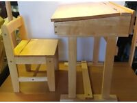 Childs Solid Wood Desk and Chair