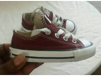 Converse All Star Burgandy Trainers Size 5