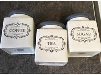 Vintage Tea, Coffee & Sugar Containers